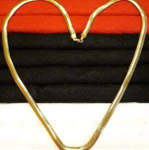 "30"" Gold Herringbone Necklace"